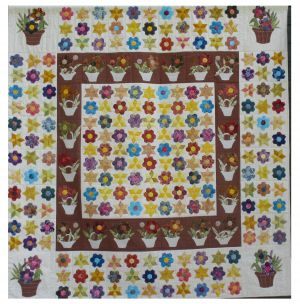 A MODERN BATIK TAKE OF A 19th CENTURY QUILT Mardi Cherry